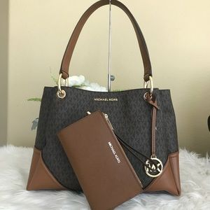 Michael Kors Large Nicole shoulder tote & wallet